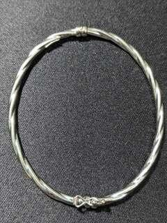 Authentic Italian White Gold Bangle 14k 4.38g