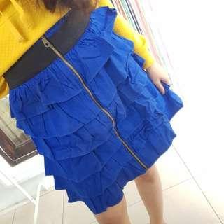 Skirt - Zipper Skirt - Rok - Biru