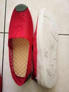 Red slip on shoes #APR10