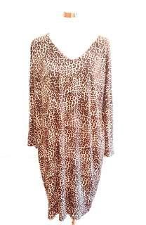 Animal Print Kaftan Dress Sz 16
