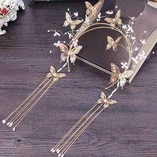 {RENT} Gold Butterfly Crown (RC-003)