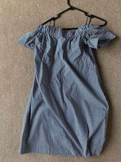 CUE off shoulder dress