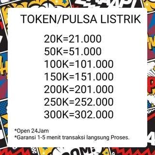 TOKEN LISTRIK PLN 20K 50k 100k 200k PROSES 1 MENIT