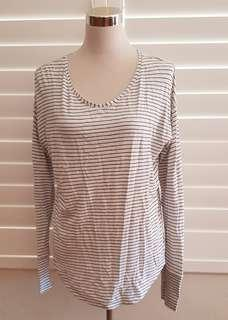 Striped Cotton Blend Top