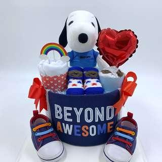 🚚 Ready stock! Snoopy Baby Diapers Cake