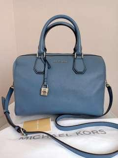 Preloved Authentic MK Speedy Leather with Longstrap,Tag&DB (30x20 cm)
