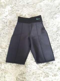 Fat burner velcro waist long shorts
