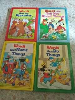 [FREE POSTAGE] Grolier Disney Vocabulary Book #STB50