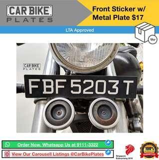 Front Sticker W/ Metal Plate
