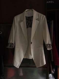 Suit jacket whit color