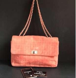 Chanel猄皮粉紅色2.55size