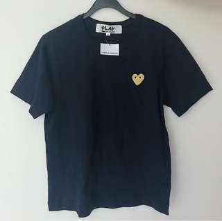cdg play tee (authentic)