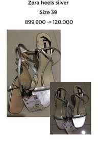 Zara Heels silver