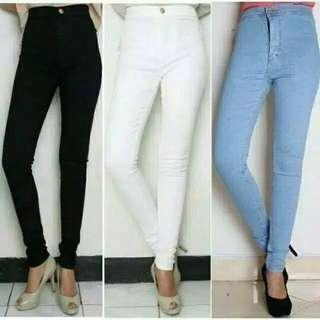 Happy Shopping Fashion Celana Jeans High Waist HW Punny Original