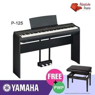 YAMAHA P-Series Digital Piano: P-125 (with stand)