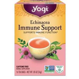 [現貨] Yogi, Echinacea Immune Support, Caffeine Free, 16 Tea Bags 紫錐花茶包