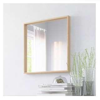 NISSEDAL MIRROR (WHITE STAINED OAK EFFECT)