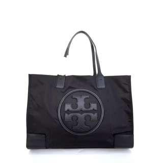 Tas Branded Tory Burch Ella Nylon Tote Big - Black