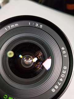 Tokina 17mm f3.5 manual lens cannon or om mount