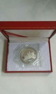 1994年中国-新加坡友好银币 1994 Sino - Singapore friendship 10 Yuan Silver Coin