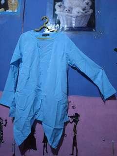Salma top ocean blue blouse