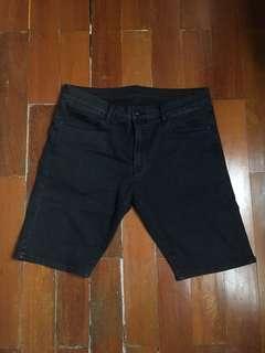 Jeans Pendek Skinny Shorts Pria Uniqlo Original Man Men Ori