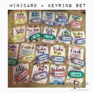 Customised / Personalised Minicards and Keyring Set