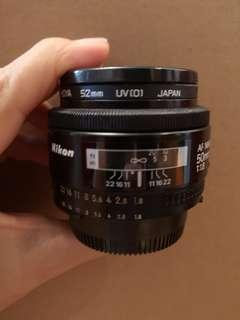 🚚 Nikon nikkor 50mm 1:1.8