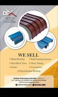 metal roofing and steel roof truss