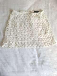 Forever 21 White Skirt Flower
