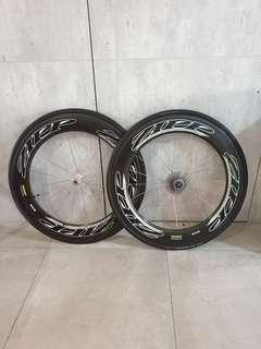 🚚 Authentic  ZIPP 808 Tubular carbon wheelset