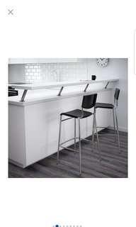 STIG Ikea Bar Stool with backrest