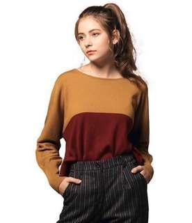 Knitted Top - Burgundy