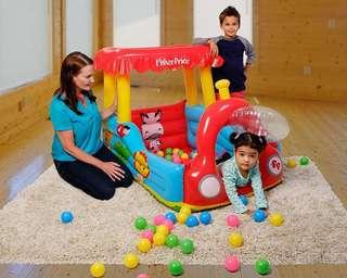 🚚 BNIB Fisher-Price Train Inflatable Ball Pit WITH 25 Balls