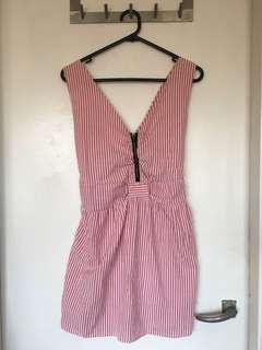 Cute Pink and white striped dress