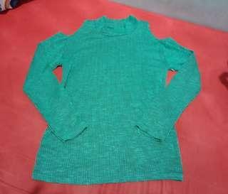 Cold shoulder Longsleeves (bakuna blouse)