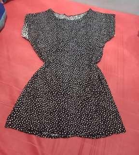 Polka dots long blouse