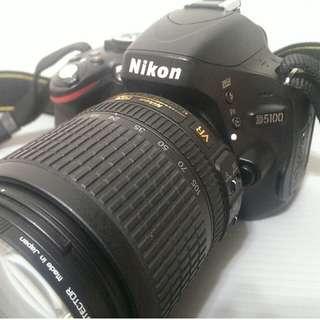 Nikon D5100 + AF-S DX 18-105mm 快門1萬出頭