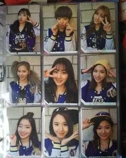 Twice Page Two fullset photocard Selfie/Flower