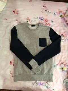 Grey Navy Blue Sweater