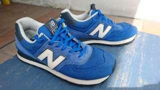 New Balance 574 Triple Blue Sneakers.  #STB50