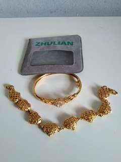 Zhulian bangle dan bracelet