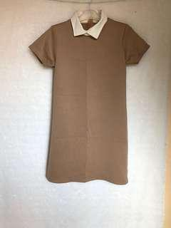 Dress brown kerah