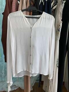 Sheer off white blouse