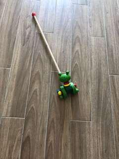🚚 Wooden toy walking stick
