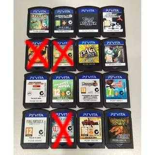 Vita games clearance (Cartridge only, No Box)