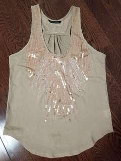 Women's rosegold sequin top