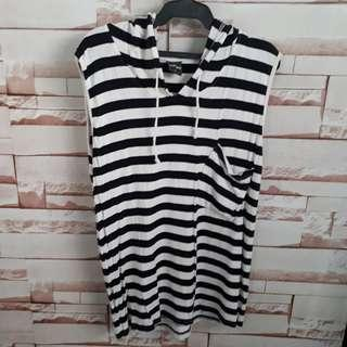 STRIPED SHIRT WITH HOODIE