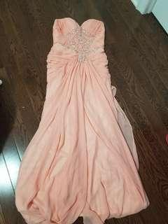 Peach Evening gown or prom dress