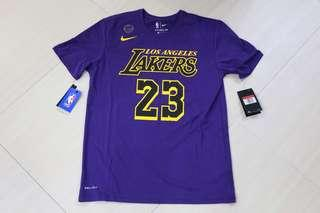 🏀現貨發售🏀Nije LA Lakers Lebron James Tee 湖人勒邦占士tee